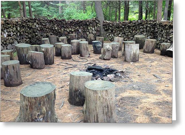 Firepit Greeting Cards - A place to gather Greeting Card by Robin Howe