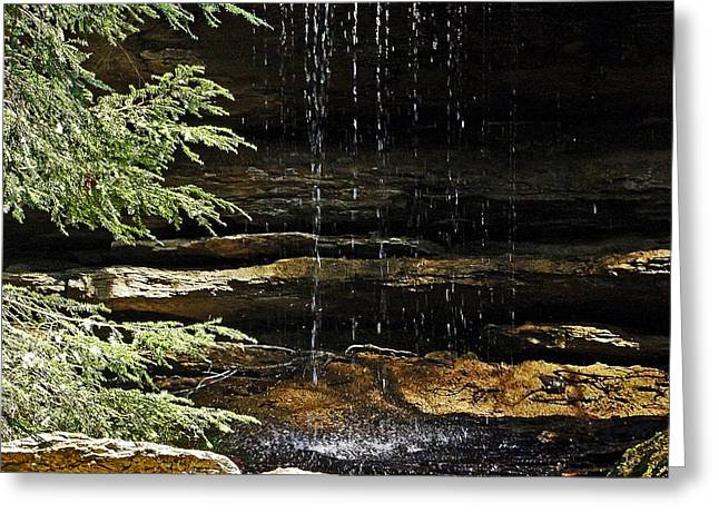 Waterfall Photography Greeting Cards - A Place To Reflect Greeting Card by Lianne Schneider