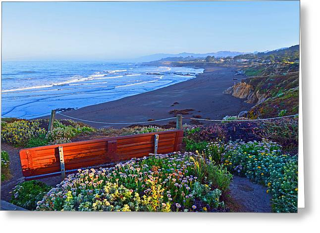 Cambria Greeting Cards - A Place to Reflect Greeting Card by Lynn Bauer