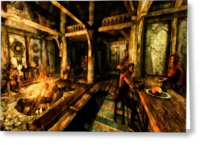 Video Game Food Greeting Cards - A Place to Relax Greeting Card by Joe Misrasi