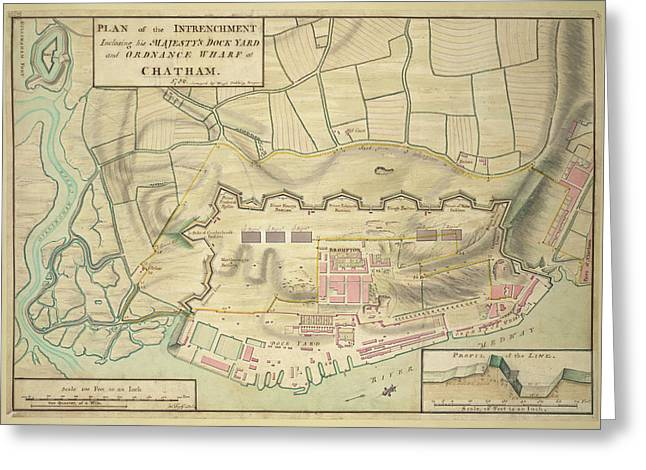 A Plan Of Chatham Greeting Card by British Library