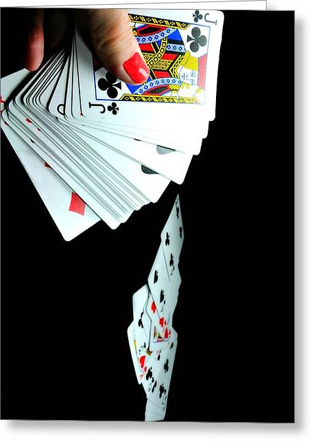 Deck Of Cards Greeting Cards - 52 Pick Up Greeting Card by Diana Angstadt