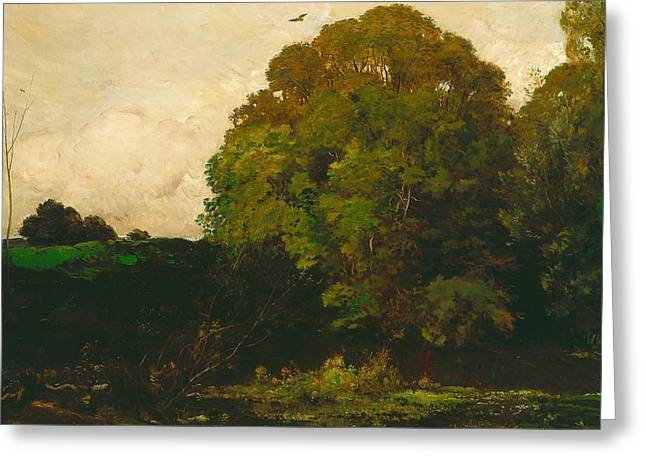 A Pond In The Morvan Greeting Card by Charles Francois Daubigny