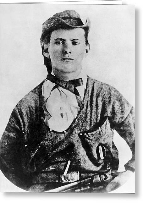 A Portrait Of Jesse James Greeting Card by Underwood Archives