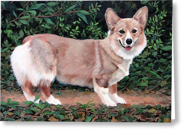 Sandra Chase Paintings Greeting Cards - A Portrait of Pickle Greeting Card by Sandra Chase