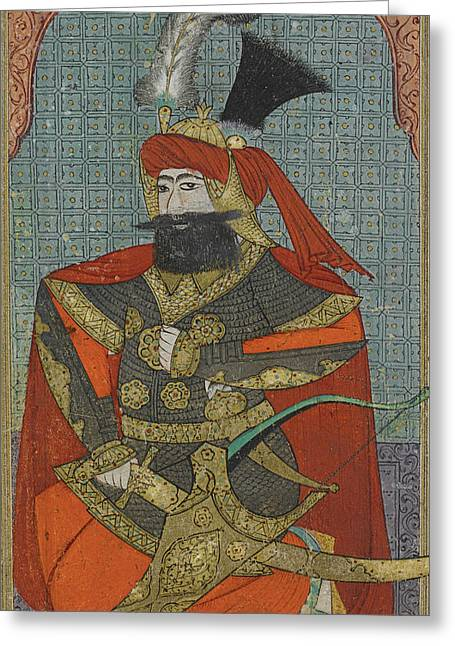 Jihad Greeting Cards - A Portrait Of Sultan Murad Iv Greeting Card by Celestial Images
