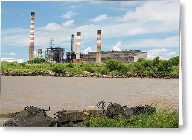 A Power Station In Buenos Aires Greeting Card by Ashley Cooper