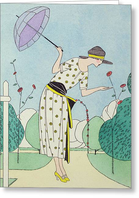 Twenties Greeting Cards - A Practical Dress for the Country  Greeting Card by Anonymous
