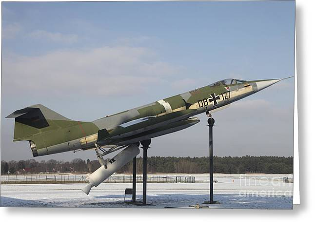 Starfighter Greeting Cards - A Preserved F-104g Starfighter Greeting Card by Timm Ziegenthaler