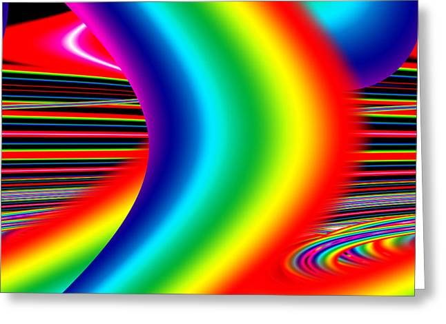 Artwork Greeting Cards - A Problem Is There To Be Solved After That See That Beautiful Rainbow Greeting Card by Sir Josef  Putsche