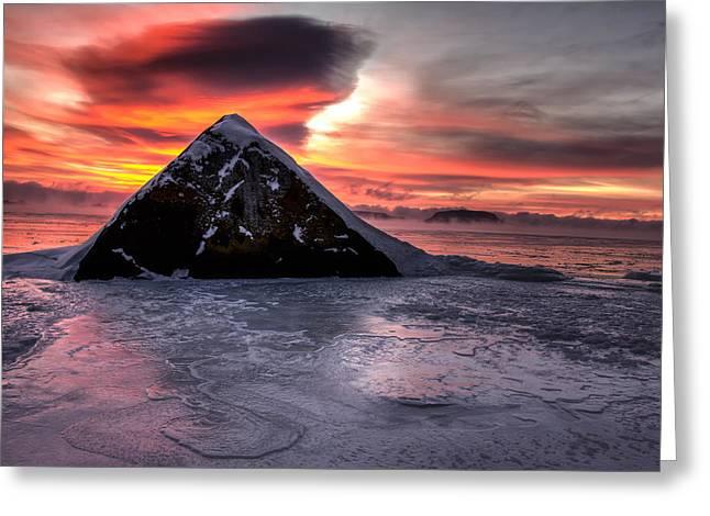 Superior Sunrise Greeting Cards - A Pyramid  Greeting Card by Jakub Sisak