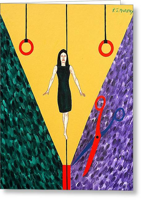 Scissors Paintings Greeting Cards - A Question Of Balance Greeting Card by Patrick J Murphy