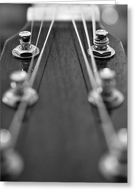 Playing Musical Instruments Greeting Cards - A Quick Tune Up Greeting Card by Pam Walker