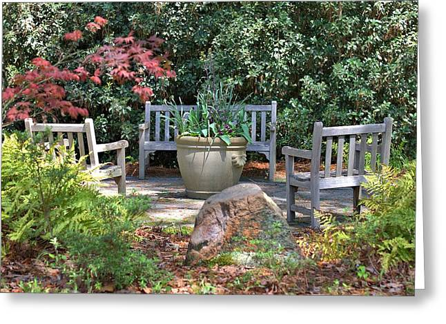 A Quiet Place To Meet Greeting Card by Gordon Elwell