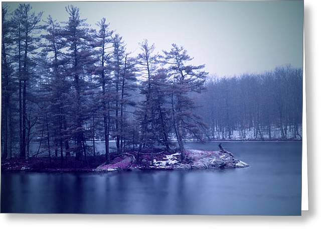 Rural Maine Roads Greeting Cards - A Quiet River Greeting Card by Patricia McAtee
