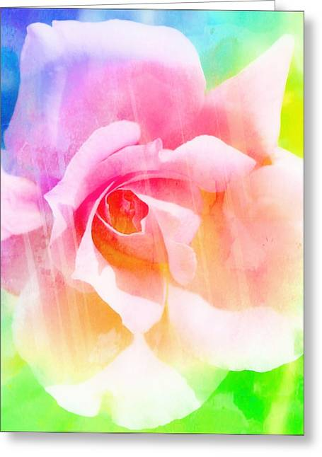 Pictures Of Oregon Greeting Cards - A Rainbow of a Rose Greeting Card by Cathie Tyler
