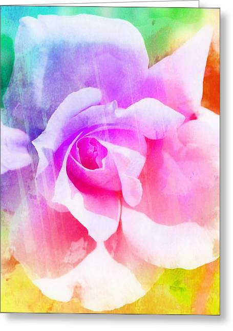Pictures Of Oregon Greeting Cards - A Rainbow of a Rose Two Greeting Card by Cathie Tyler