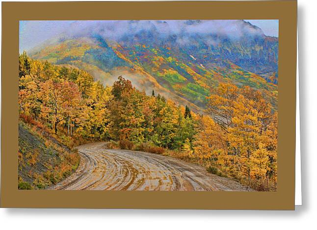 Scenic Drive Greeting Cards - A Rainy Autumn Morning 2  Greeting Card by Allen Beatty