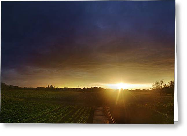 Himmel Greeting Cards - A ray of hope Greeting Card by Philippe Meisburger