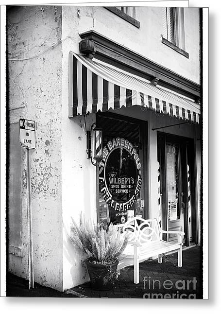 Chatham County Greeting Cards - A Real Barber Shop Greeting Card by John Rizzuto