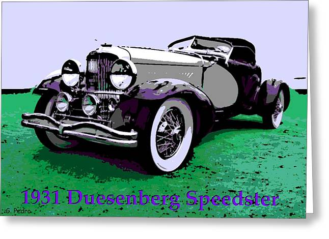 Smooth Ride Greeting Cards - A Real Duesey Greeting Card by George Pedro