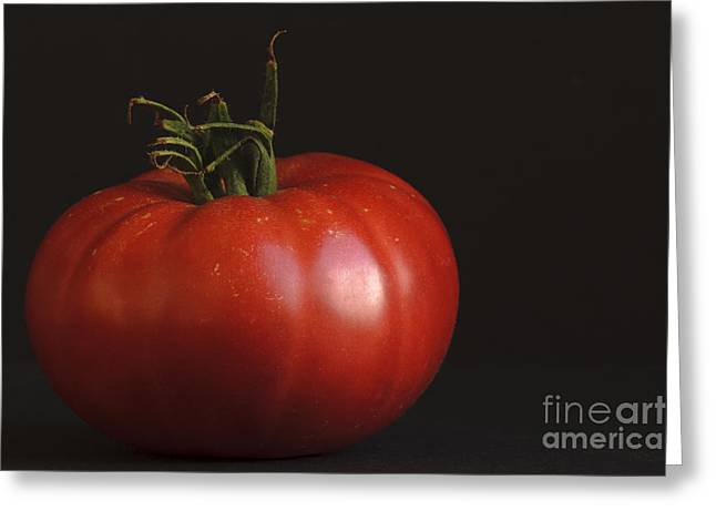 Local Food Greeting Cards - A Real Tomato Greeting Card by K Powers  Photography