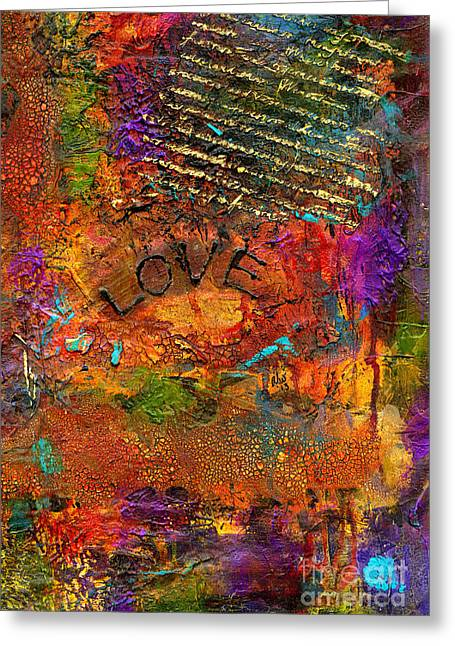 Main Street Mixed Media Greeting Cards - A Really Long Love Letter Greeting Card by Angela L Walker