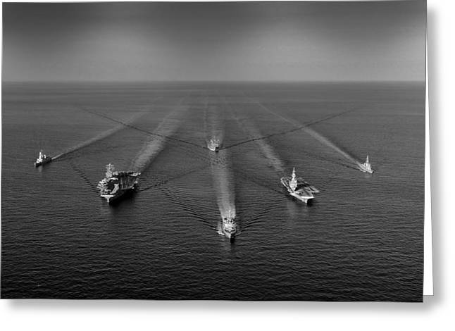 Naval Aircraft Greeting Cards - A Reflection of Power Greeting Card by Mountain Dreams