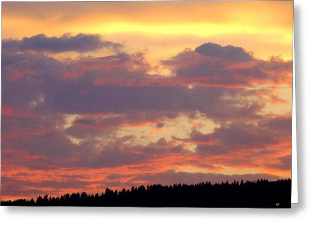 A Summer Evening Greeting Cards - A Remarkable Sky Greeting Card by Will Borden
