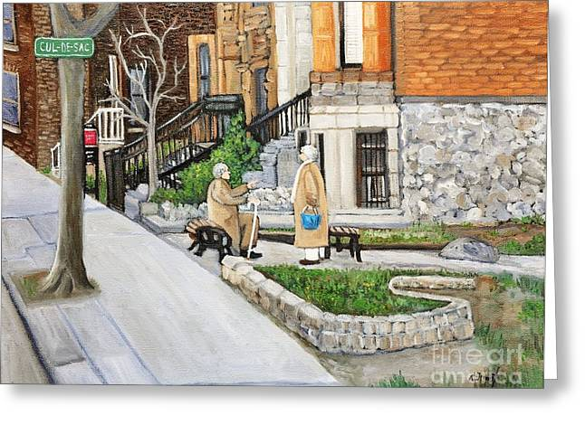 A Rest On Summerhill Avenue Greeting Card by Reb Frost