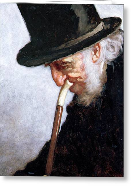 Sideburns Greeting Cards - A Retired Sea Captain from Massachusetts Greeting Card by Eastman Johnson