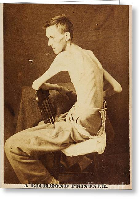 A Richmond Prisoner In American Civil War Greeting Card by Celestial Images