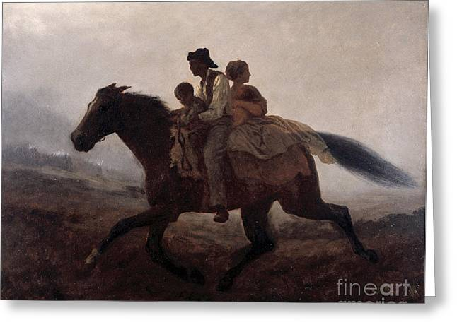 Slavery Paintings Greeting Cards - A Ride for Liberty Greeting Card by Eastman Johnson