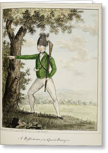 A Rifleman Of The Queen's Rangers Greeting Card by British Library