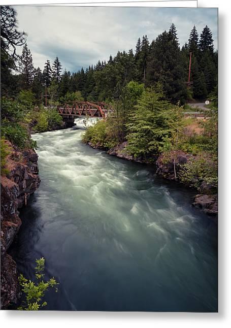 White Salmon River Greeting Cards - A River Runs Through It Greeting Card by Brian Bonham