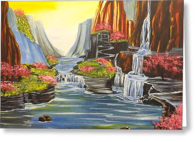 Stairway To Heaven Greeting Cards - A River Runs Through It Greeting Card by Darren Robinson