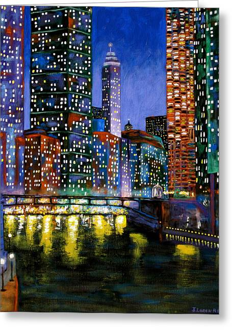 Chicago Artist Greeting Cards - A River Runs Through It Greeting Card by J Loren Reedy