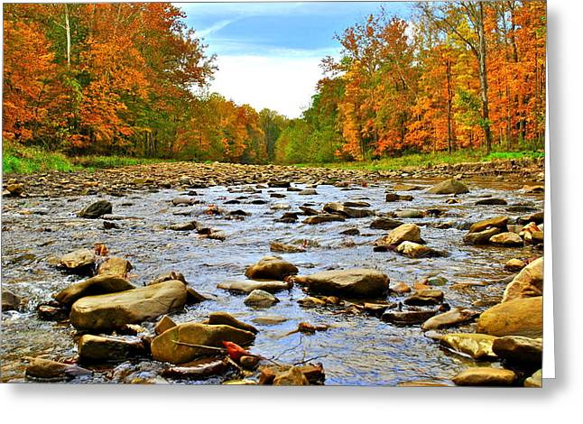 Family Picnic Greeting Cards - A River Runs Through It Greeting Card by Frozen in Time Fine Art Photography