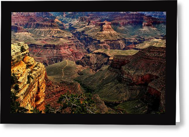 The Grand Canyon Greeting Cards - A River Runs Through It-The Grand Canyon Greeting Card by Tom Prendergast