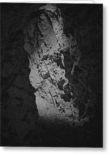 Mine Pit Greeting Cards - A Road Not Taken Greeting Card by Odd Jeppesen