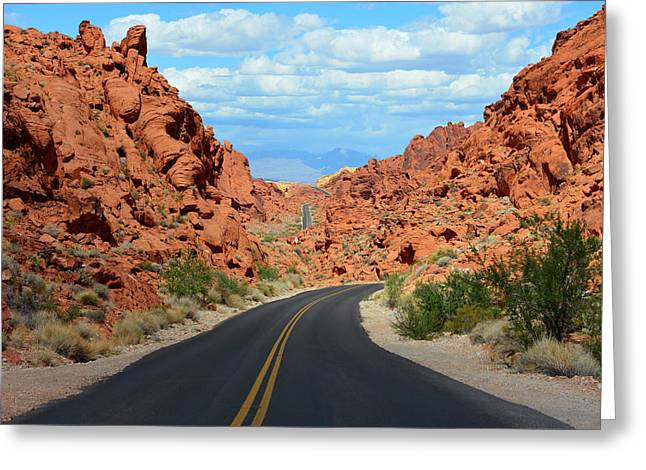 Black Top Greeting Cards - A road runs through it Greeting Card by David Lee Thompson