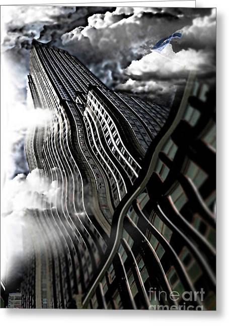 Mayfield Greeting Cards - A Rockin Empire State Building Greeting Card by Christine Mayfield