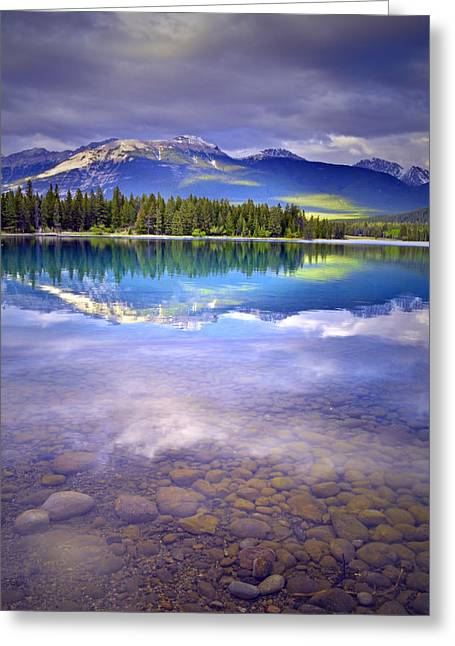 Snow Capped Greeting Cards - A Rocky Sunset Greeting Card by Tara Turner
