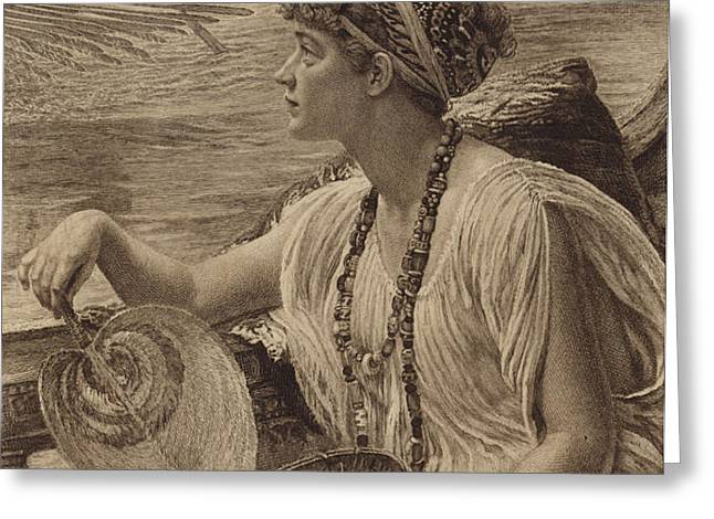 A Roman Boat Race Greeting Card by English School