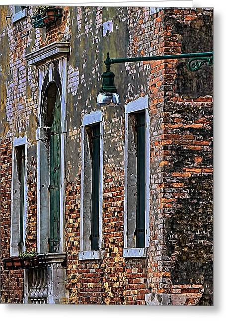 Toms Place Greeting Cards - A Room in Venice Greeting Card by Tom Prendergast