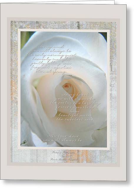 Texting Greeting Cards - Love is a Rose Greeting Card by Brooks Garten Hauschild