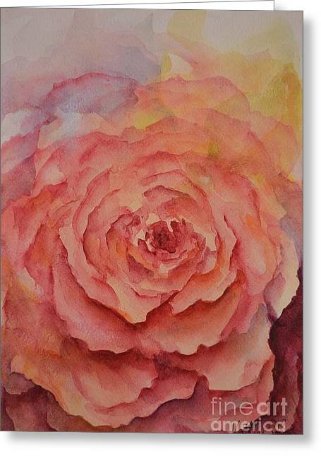 Petals Ceramics Greeting Cards - A Rose Beauty Greeting Card by Kathleen Pio