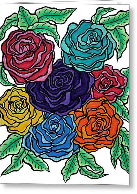Rose Petals Pastels Greeting Cards - A Rose by Any Other Name Greeting Card by Morning Coffee