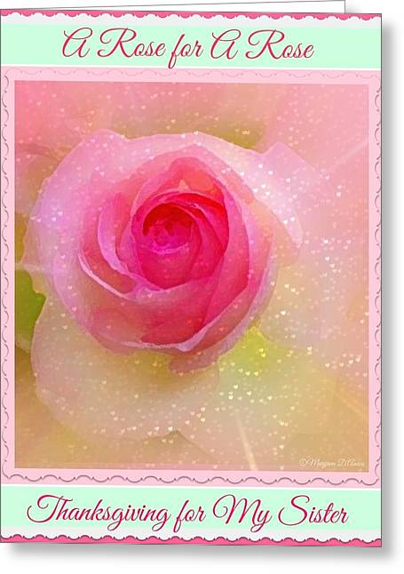 Artprint Greeting Cards - A Rose for a Rose Greeting Card by Maryann  DAmico
