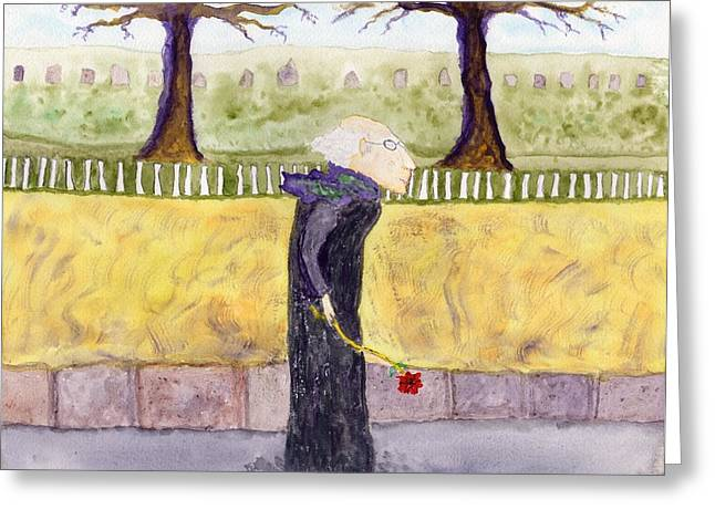 A Rose For My Dear Greeting Card by Jim Taylor